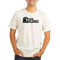Team Iceshanty Ash Grey Organic Men's Fitted T-Shirt