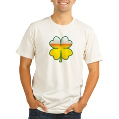 Beer Leaf Clover St. Patrick's Day Organic Men's Fitted T-Shirt