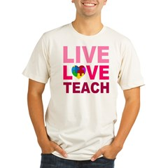 Live Love Teach Autism Organic Men's Fitted T-Shirt