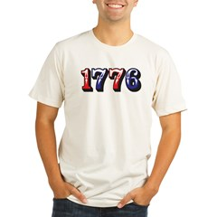 1776 dark Organic Men's Fitted T-Shirt