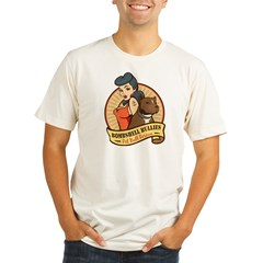 Large Pinup and dog logo NO SHADING Organic Men's Fitted T-Shirt