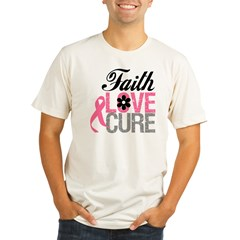 Faith Love Cure Breast Cancer Organic Men's Fitted T-Shirt