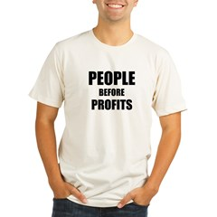 People Before Profits Organic Men's Fitted T-Shirt