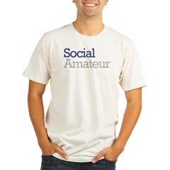 Social Amateur Pride Organic Men's Fitted T-Shirt