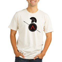 Greek Warrior Organic Men's Fitted T-Shirt