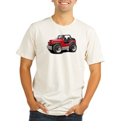 Jeep Red Organic Men's Fitted T-Shirt