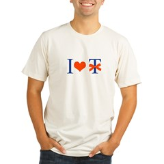 I Love T-Bow - Organic Men's Fitted T-Shirt