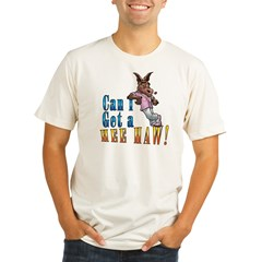 CAN I GET A HEE HAW Organic Men's Fitted T-Shirt
