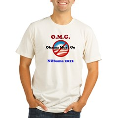 OMG Obama Must Go Organic Men's Fitted T-Shirt