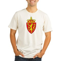Norway Coat Of Arms Organic Men's Fitted T-Shirt