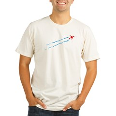 Contrails Organic Men's Fitted T-Shirt
