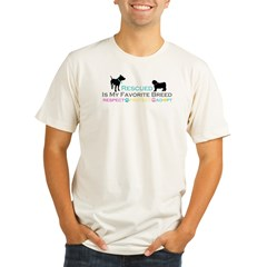 Rescued Is Favorite Breed Organic Men's Fitted T-Shirt