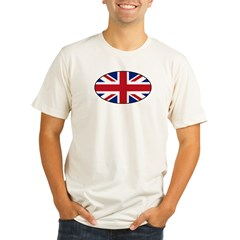 UK (Union Jack) Flag in Oval Organic Men's Fitted T-Shirt