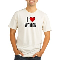 I LOVE WAYLON Organic Men's Fitted T-Shirt