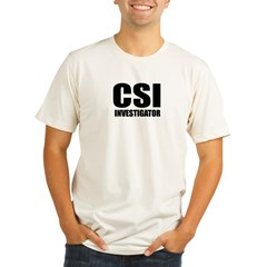 "Classic ""CSI Investigator"" Organic Men's Fitted T-Shirt"