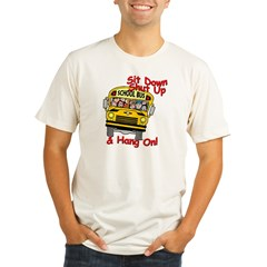 School Bus Driver Hang On! - Organic Men's Fitted T-Shirt