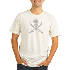 Vintage Pirate Symbol Black Organic Men's Fitted T-Shirt