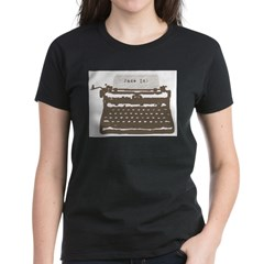 Typewriter Women's Dark T-Shirt