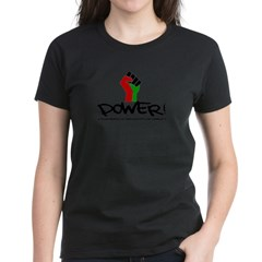 Women's Plus Size V-Neck Dark Black Power Shirt Women's Dark T-Shirt