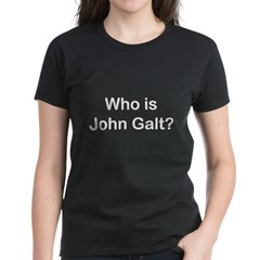 Who is John Galt.psd Women's Dark T-Shirt