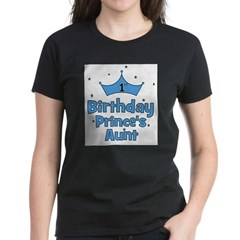1st Birthday Prince's Aunt! Women's Dark T-Shirt
