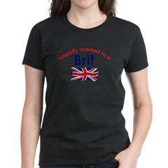 Happily Married Brit 2 Women's Dark T-Shirt