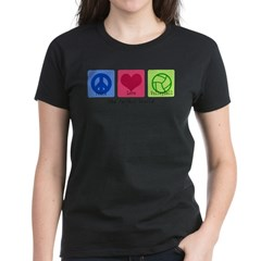 Peace Love VB Women's Dark T-Shirt