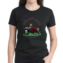 Light Red Farmer Women's Dark T-Shirt