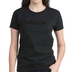 Paralegal Women's Dark T-Shirt