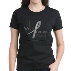 Gray Ribbon Friend Women's Dark T-Shirt