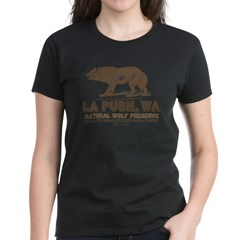 La Push Wolf Preserve Women's Dark T-Shirt