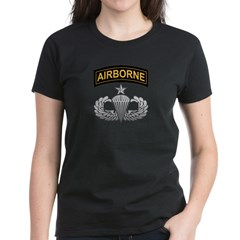 Senior Airborne Wings with Ai Women's Dark T-Shirt