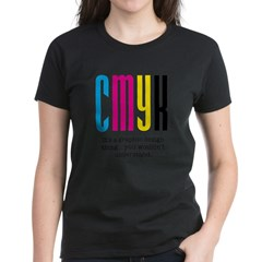 cmyk design thing Women's Dark T-Shirt