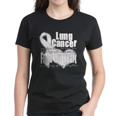 Daughter Lung Cancer Women's Dark T-Shirt