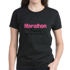 Marathon Mommy Peace Quie Women's Dark T-Shirt