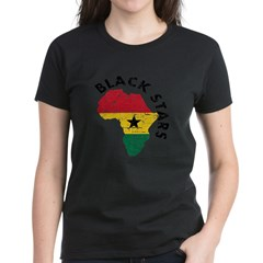 Ghana Black stars Women's Dark T-Shirt