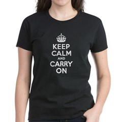 Keep Calm & Carry On Women's Dark T-Shirt