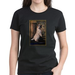 &quot;Sitting Pretty&quot; Cairn Terrier Women's Dark T-Shirt