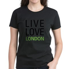 Live Love London Women's Dark T-Shirt
