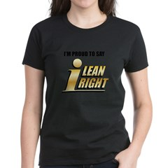I Lean Right 19 Women's Dark T-Shirt