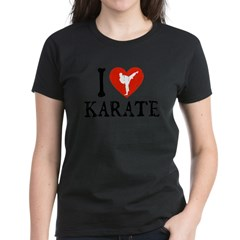 I Heart Karate - Girl Women's Dark T-Shirt