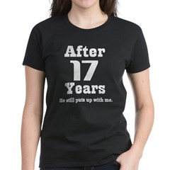 17th Anniversary Funny Quote Women's Dark T-Shirt