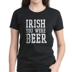 stpats_beerwish_wt Women's Dark T-Shirt