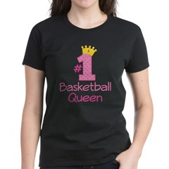 Number One Basketball Queen Women's Dark T-Shirt