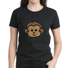 Monkey Face Women's Dark T-Shirt