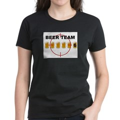Beer Team 6 Logo Women's Dark T-Shirt