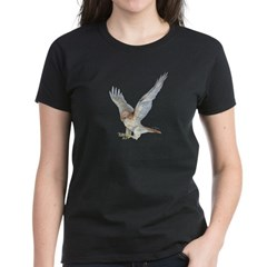 striking Red-tail Hawk Women's Dark T-Shirt