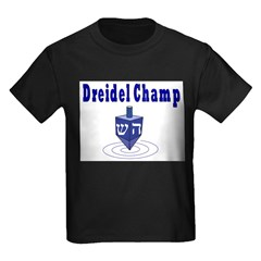 DREIDEL CHAMP HANUKKAH Kids Dark T-Shirt