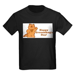 Groundhog's Day! Kids Dark T-Shirt