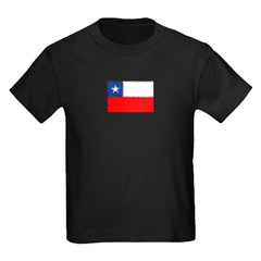 Chilean Flag Kids Dark T-Shirt